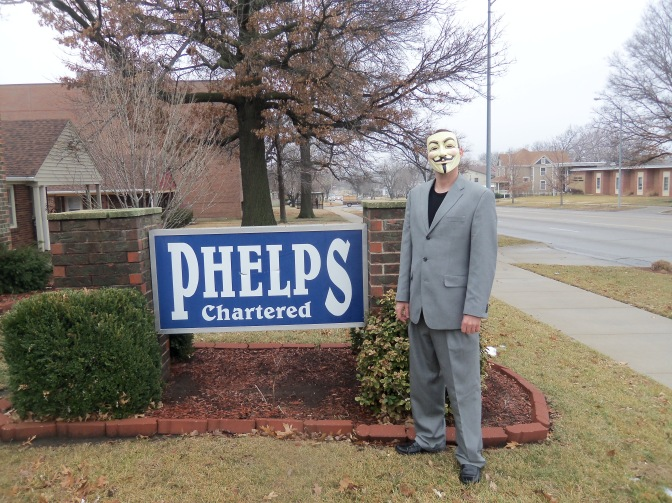 I paid the Phelps family law firm a visit...