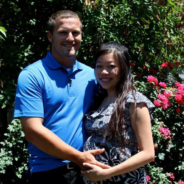 Kyler Carriker with his wife, Linda.