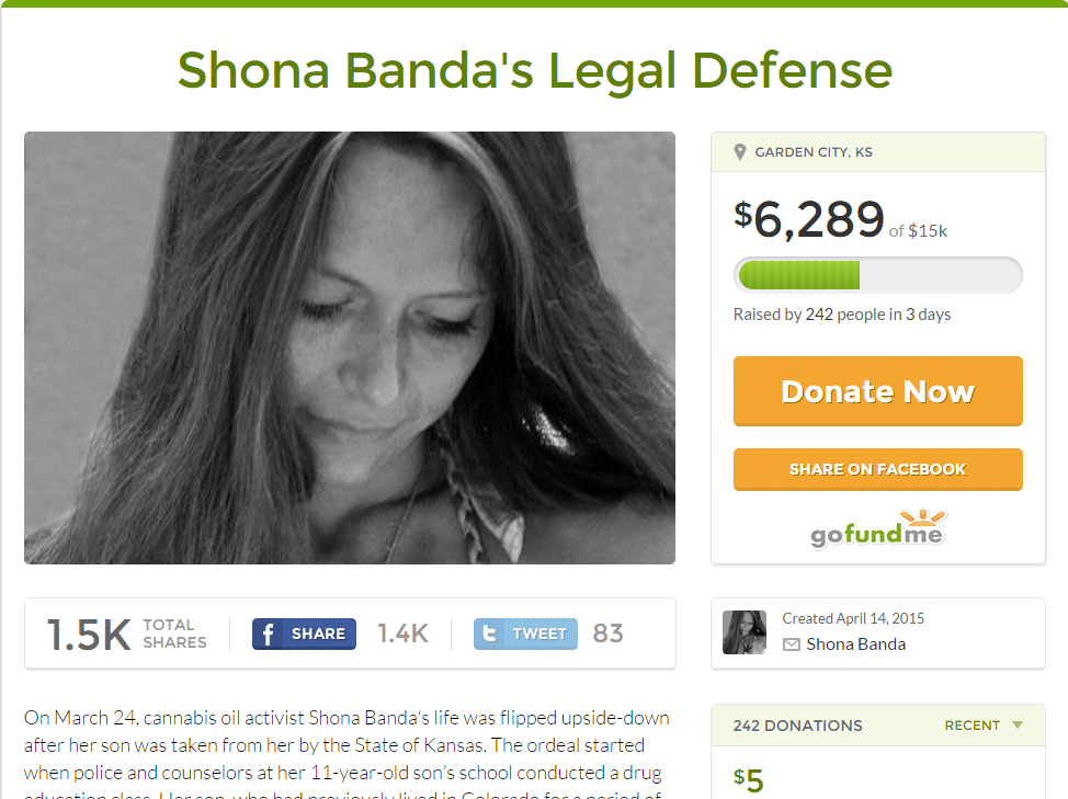Shona Banda's Facebook account shutdown because she was using it to raise money for her legal defence